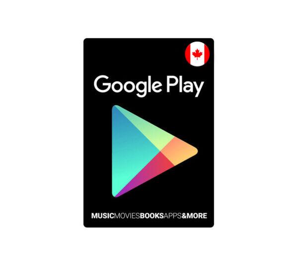 گیفت کارت 25 دلاری گوگل پلی کانادا
