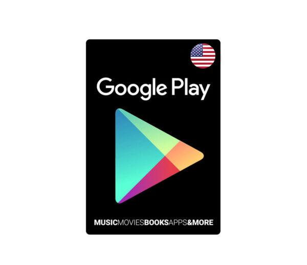 گیفت کارت 15 دلاری گوگل پلی آمریکا
